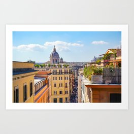 ROME the Streets:  Rooftop View of Rome, Italy Art Print