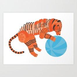 Robot Tiger Art Print