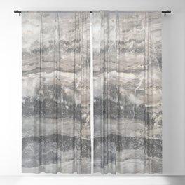 Deep Marble Sheer Curtain