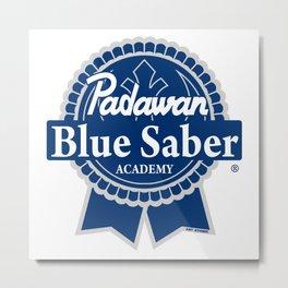Padawan Blue Saber Academy Metal Print
