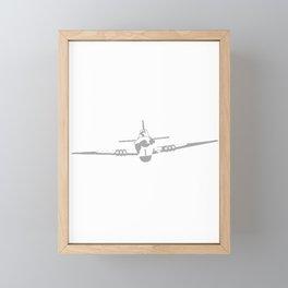 Aircraft In Halftone Framed Mini Art Print