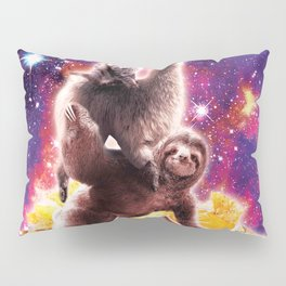 Space Cat Llama Sloth Riding Nachos Pillow Sham