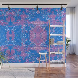 Purple and Blue Abstract Wall Mural