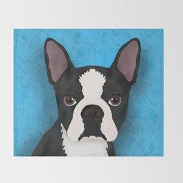 Boston terrier Throw Blanket