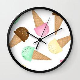 Ice Cream Pattern Wall Clock