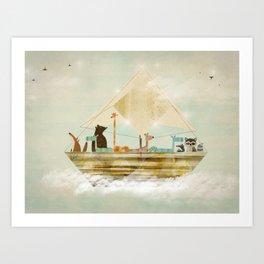 sky sailers Art Print