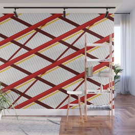 Deco Stripes Scarlet Wall Mural