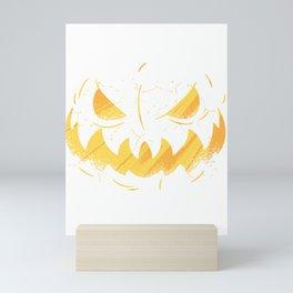 Pumpkin Face Halloween Mini Art Print
