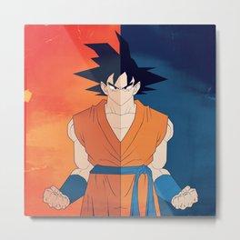 Minimalistic Goku Metal Print