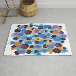 Seashells Abstract Painting Rug