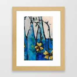 Simple Bottles Framed Art Print