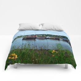 Fisherman's Wharf in Cape Breton Comforters