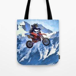 Mountain View - Dirt-bike Racer Tote Bag