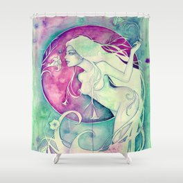 Virgo Goddess - An Earth Elemental Shower Curtain