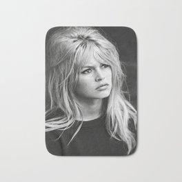 Brigitte Bardot Retro Vintage Art Bath Mat
