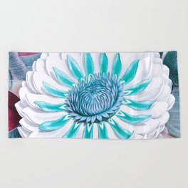 Tropical Fantasy Flower Graphic Soft Color Beach Towel