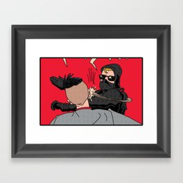 Black Bloc Man V. Spencer Framed Art Print