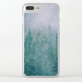 Foggy Forest in Squamish, British Columbia Clear iPhone Case