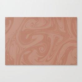 Sherwin Williams Canyon Clay Fluid Art Swirls Canvas Print