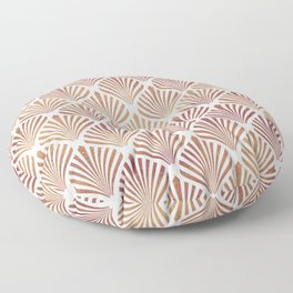 Rose-gold geometric art-deco pattern Floor Pillow