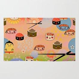 kawai sushi for sumo wrestles Rug