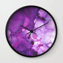 Alcohol Ink Amethysta Wall Clock