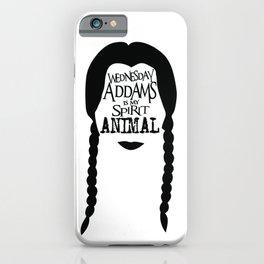 Wednesday Addams is my Spirit Animal iPhone Case