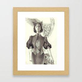 owl maiden Framed Art Print