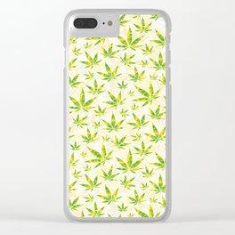 Weed OG Kush Pattern Clear iPhone Case