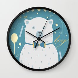 White Bear Wall Clock