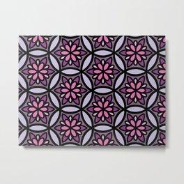 Pink and Purple Floral II Metal Print