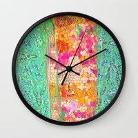 honeycomb Wall Clocks featuring Honeycomb by Ingrid Padilla