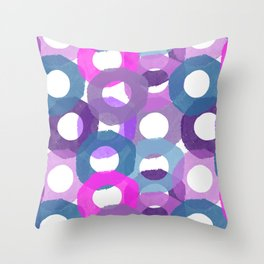 Painted Donuts One Throw Pillow