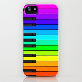 Rainbow Piano Keyboard  iPhone Case