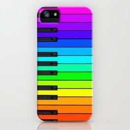 Rainbow Piano Keyboard  iPhone Case