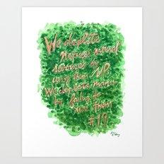 Natural Resources - Zig Wisdom Inspiration Print #19 Art Print