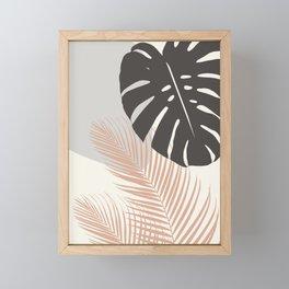 Minimal Monstera Palm Finesse #3 #tropical #decor #art #society6 Framed Mini Art Print