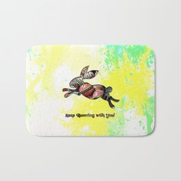 Happy Easter Rabbit - Keep Runing with You Bath Mat