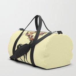 Spring Itself Deer Floral (Cream) Duffle Bag