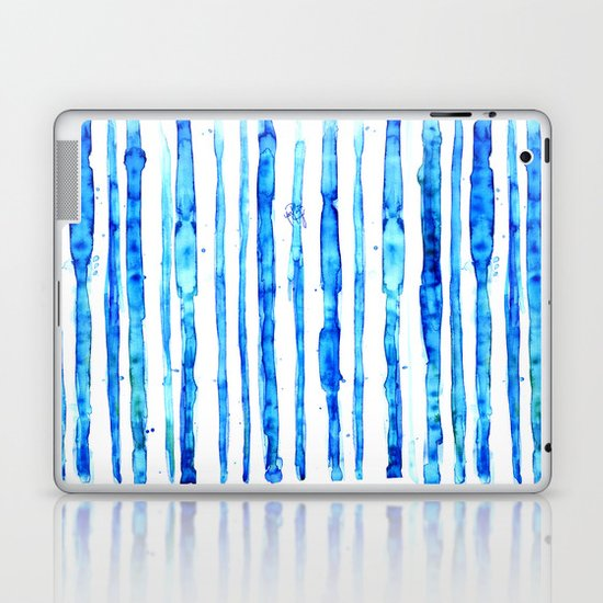 Blue Ink Stains Laptop & iPad Skin