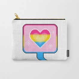 Pan Pride Heart Speech Bubble Carry-All Pouch