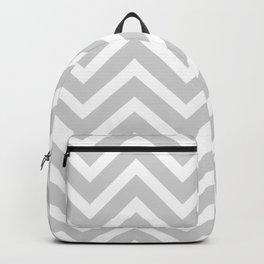 Chevron Stripes : Gray & White Backpack