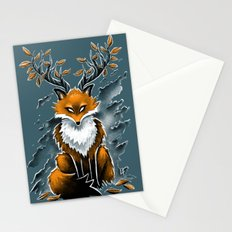 Deer Fox Stationery Cards