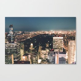 central park at night Canvas Print