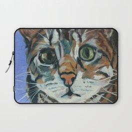 Green Eyed Cat Portrait Laptop Sleeve