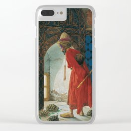 Osman Hamdi Bey The Tortoise Trainer Clear iPhone Case
