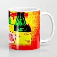 ale giorgini Mugs featuring Ale-8-One (6 Pack) by Silvio Ledbetter