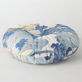 Mount fuji japon from Utagawa Kuniyoshi Floor Pillow