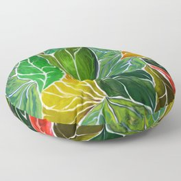 Dancing leaves Floor Pillow