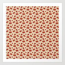 """Background abstract pattern """"Autumn leaves"""", vector, texture design. Art Print"""